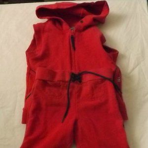 Hooded Sleeveless Vest and Capris, Size 2T